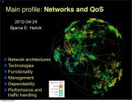 Networks and QoS - NTNU