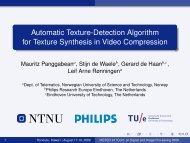 Automatic Texture-Detection Algorithm for Texture Synthesis ... - NTNU