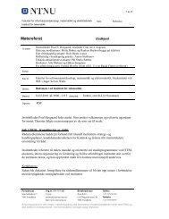Møtereferat - NTNU