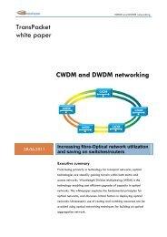 CWDM and DWDM networking - TransPacket