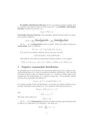 1 Negative exponential distribution