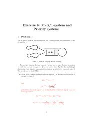 Exercise 6: M/G/1-system and Priority systems - NTNU