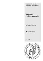 Totality in qualitative domains Lill Kristiansen