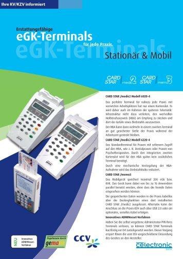 eGK-Terminals - CCV Celectronic CARD STAR