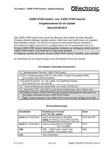 Update_CSmedic2+CSmemo2 130604 - CCV Celectronic CARD ...
