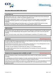 Besondere Merkmale CARD STAR /medic2 - CCV Celectronic ...
