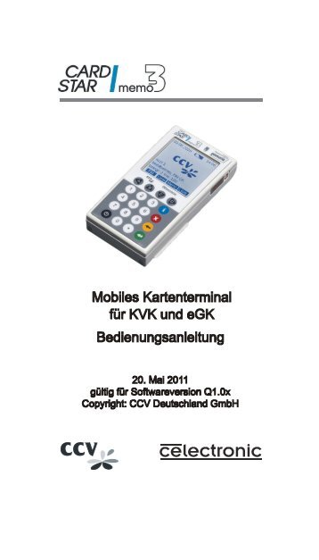 Download - CCV Celectronic CARD STAR