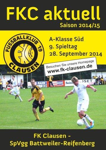 FKC Aktuell - 09. Spieltag Saison 2014/2015