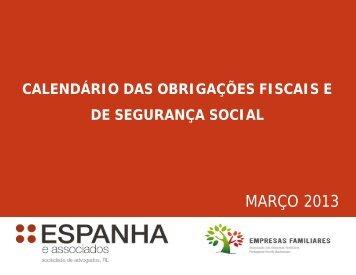 Calendário das obrigações fiscais e de ... - TextoVirtual.com