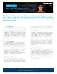 Managed Hosting Checklist - Internap