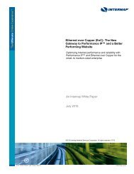 Ethernet over Copper (EoC): The New Gateway to ... - Internap