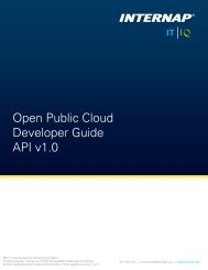 Open Public Cloud Developer Guide API v1.0 - Internap