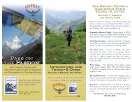 Pass on the - Osprey Packs, Inc