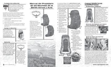 Manual del Propietario de las Mochilas de la ... - Osprey Packs, Inc