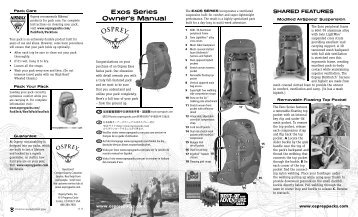 Exos Series Owner's Manual - Osprey Packs, Inc