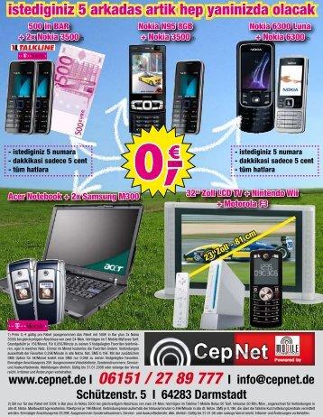 www.cepnet.de I 06151 / 27 89 777 I info@cepnet.de