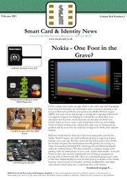 Nokia - One Foot in the Grave? - Smart Card News