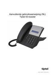 Aanvullende gebruiksaanwijzing (NL) Tiptel 63-toestel