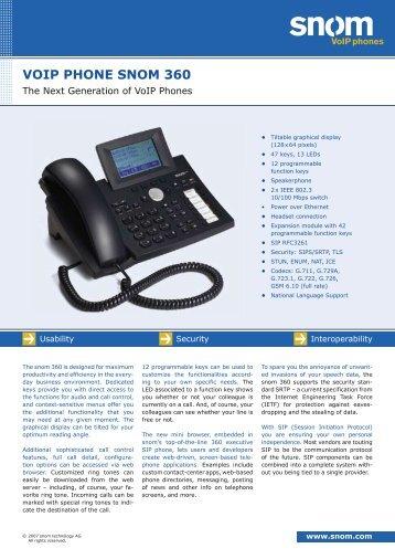 VOIP PHONE SNOM 360 - Tiptel