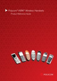 Polycom® KIRK® Wireless Handsets Product Reference Guide - Tiptel