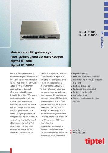 Brochure tiptel IP 800/3000