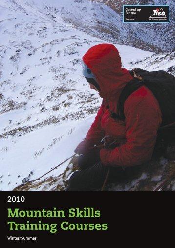 Mountain Skills Training Courses - Tiso