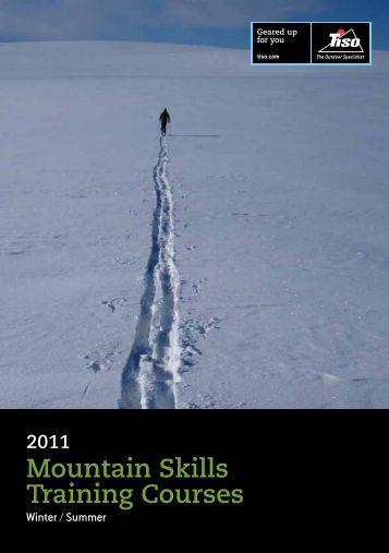 2011 Mountain Skills Training Courses - Tiso
