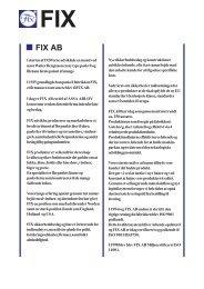 FIX A/S FIX AB - BilligSikring.dk