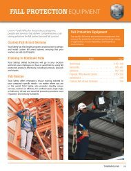 FALL PROTECTION EQUIPMENT - Total Safety