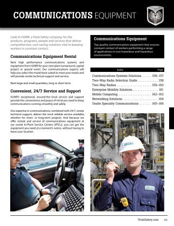COMMUNICATIONS EQUIPMENT - Total Safety
