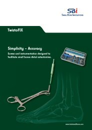 Download the TwistoFIX™ surgical technique - Small Bone ...