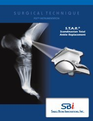 PGT INSTRUmENTATIoN - Small Bone Innovations