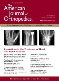 American Journalof Orthopedics® - Small Bone Innovations