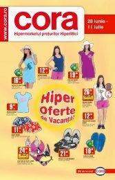 Catalog CORA - Supliment vacanta 28 iunie - 11 ... - TotulRedus.ro