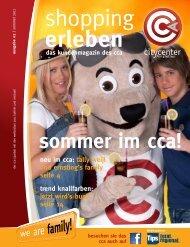 Das Kundenmagazin Des Cca - City Center Amstetten