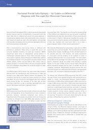 Nocturnal Frontal Lobe Epilepsy – An Update on ... - Touch Neurology