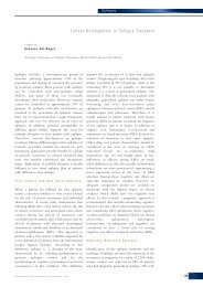 Current Developments in Epilepsy Treatment - Touch Neurology