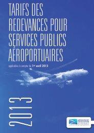 applicables à compter du 1er avril 2013 - Aéroport Toulouse-Blagnac