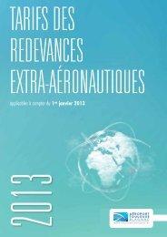Tarifs des redevances extra-aéronautiques applicables au 1er ...