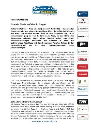 (PDF, 310 KB) Grande Finale auf der 7. Etappe - Tour-Transalp