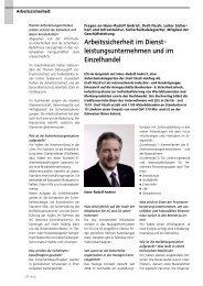 Arbeitssicherheit im Dienst - leistungsunternehmen und ... - Einkauf.ch