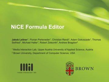 NiCE Formula Editor - Media Interaction Lab