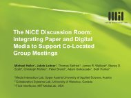 The NiCE Discussion Room - Media Interaction Lab