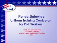 Poll Worker Training - Monroe County -- Supervisor of Elections