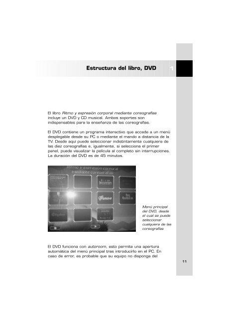 Estructura del libro, DVD 1