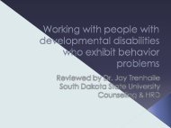 Working with People with Developmental Disabilities Who Exhibit ...