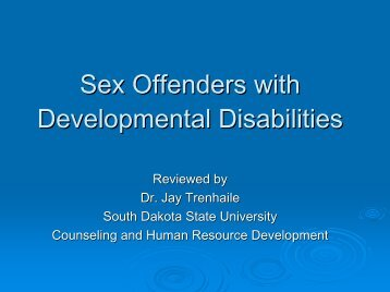Sex Offenders with Developmental Disabilities