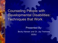 Counseling People with Developmental Disabilities: Techniques ...