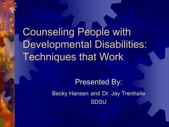 counseling people with disabilities