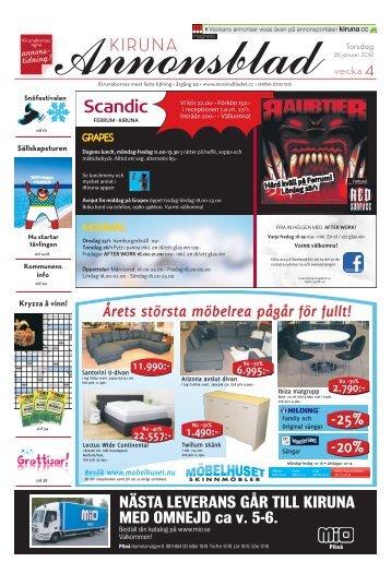 Kiruna Annonsblad vecka 4, torsdag 26 januari 2012 sidan 1
